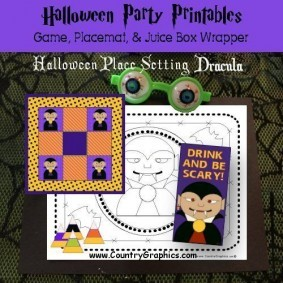 Dracula Halloween Party Printables Set