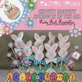 Hippity Hoppity Spring Party Printables