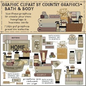 Bath and Body Country Clipart