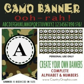 Camo Party Banner Kit