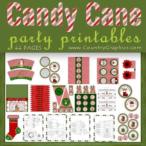 Candy Cane Christmas Party Printables