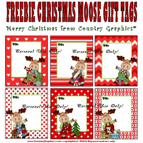 Free country christmas gift tags to print