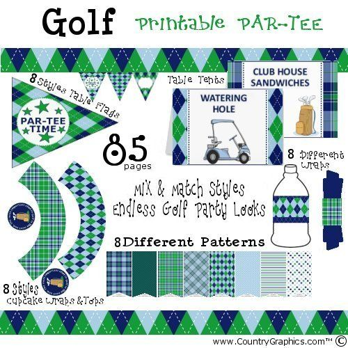 Golf Party Printables Country Graphics