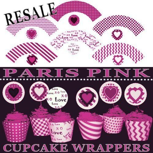 photograph relating to Printable Cupcake Wrappers identify RESALE Printable Cupcake Wrappers Crimson