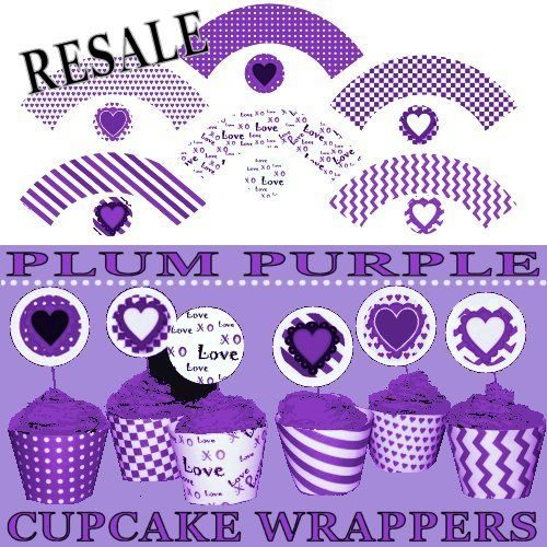 photograph relating to Printable Cupcake Wrappers called RESALE Printable Cupcake Wrappers Crimson