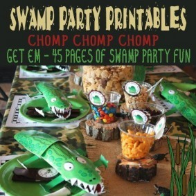 Swamp Party Printables
