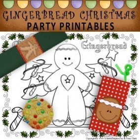Gingerbread Christmas Party Printables - table setting