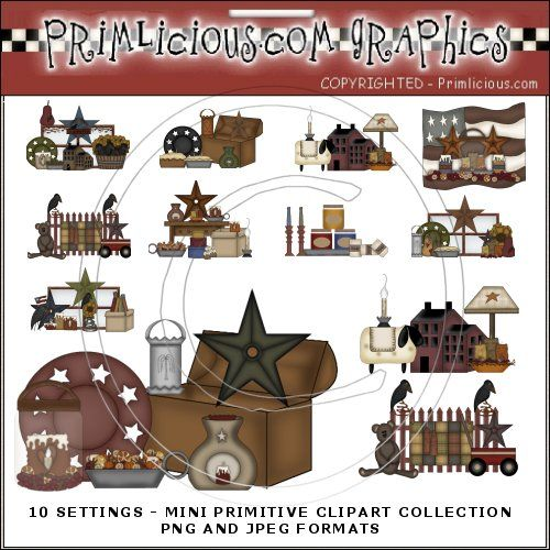 Primitive Mini Clip Art Collection - Country Graphics™