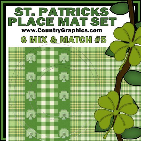 st patrick 39 s day placemats printable country graphics