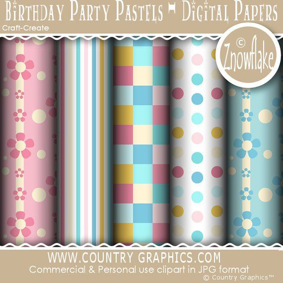 Home / All Artists / Znowflakes Designs / Birthday Party Pastels ...