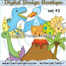 Baby Dinosaurs Clipart Set 2