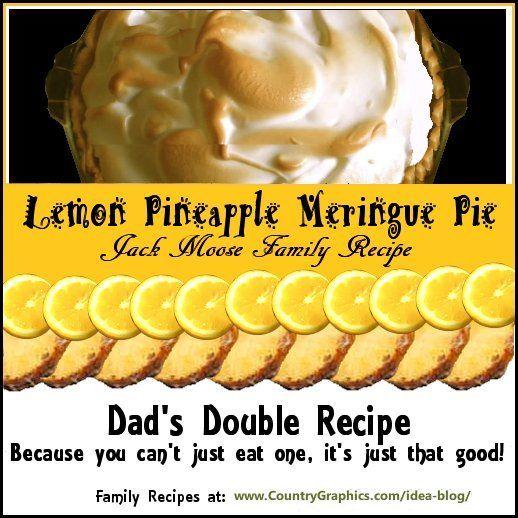 Lemon Pineapple Meringue Pie by Jack Moose