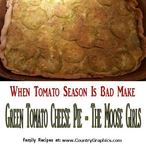 Savory Green Tomato Cheese Pie by The Moose Girls