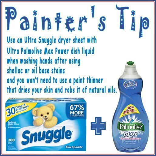 Painters Tip For Washing Hands