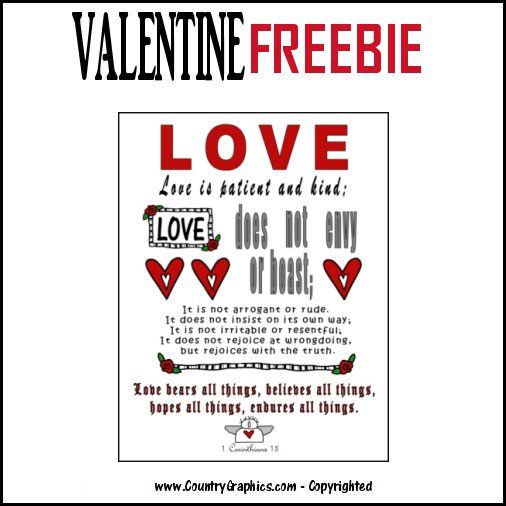 Free Valentines Day Subway Art Country Graphics