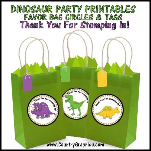 DINOSAUR Party Printables Preview 2