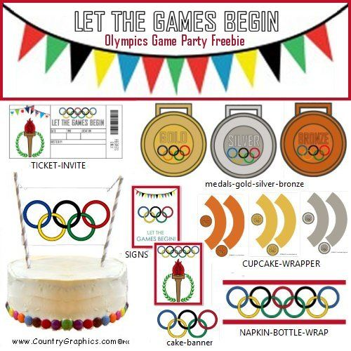 "photograph about Printable Olympic Schedule named Olympics Totally free Celebration Printable - Place Graphicsâ""¢"