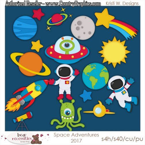 outer space clipart set country graphics�